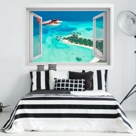 Window vinyls Maldives Islands 3D