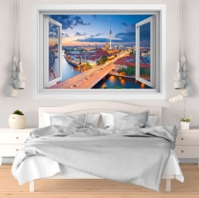 Decorative vinyl sunset Berlin Germany 3D