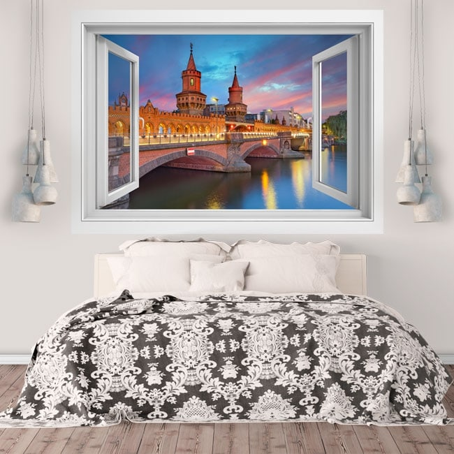 Vinyl walls Oberbaum Berlin bridge 3D