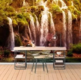 Wall mural waterfalls in the mountain