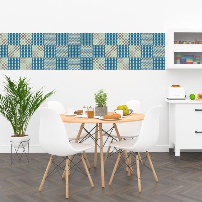 Decorative vinyl tiles kitchen
