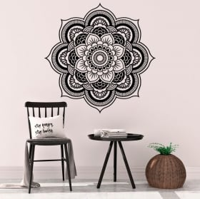 Vinyl mandalas yoga lotus