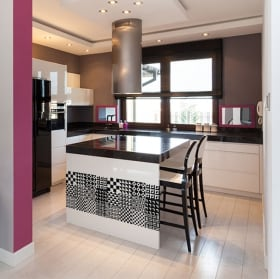 Vinyls tiles for kitchens and bathrooms