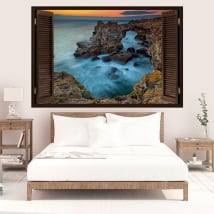Decorative vinyl sunset Tyulenovo Bulgaria 3D