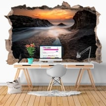 Decorative vinyl sunset black sea Bulgaria 3D