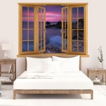 Decorative vinyl sunrise on the black sea 3D