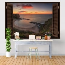 Decorative vinyl sunrise Bolata Bay Bulgaria 3D