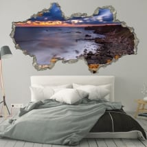 Decorative vinyl sunrise Bulgaria coast 3D