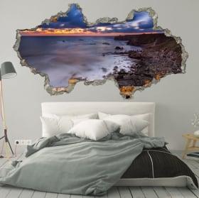 Decorative vinyl sunrise Bulgaria coast 3D