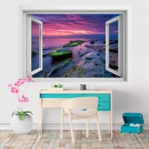 Adhesive vinyls sunrise on the black sea 3D