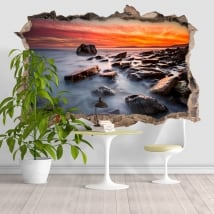 Wall decal Rocky Beach 3D