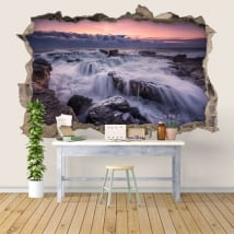 Wall decal sunrise in the sea 3D