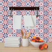Decorative vinyl hydraulic tiles
