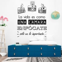 Wall decal life is like a camera