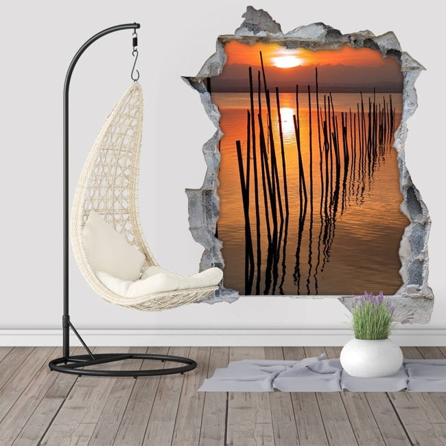 Decorative vinyl sunset Albufera Valencia 3D