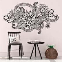 Decorative vinyl tribal vintage flowers