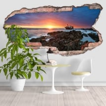 Wall stickers sunset cape of the needles 3D