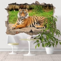 Decorative vinyl 3D Bengal tiger