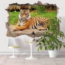 Decorative vinyl 3D Bengal tiger