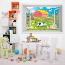 Children's vinyl animals on the farm 3D