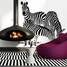Decorative vinyl Zebras