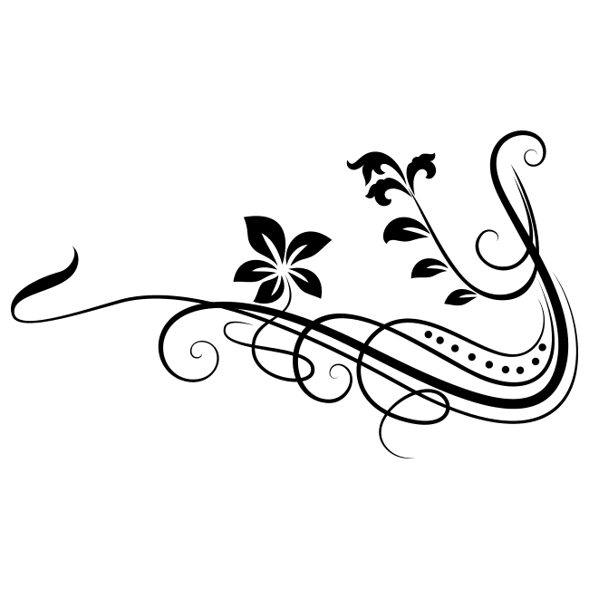 Decorative Vinyl Tribal Flowers