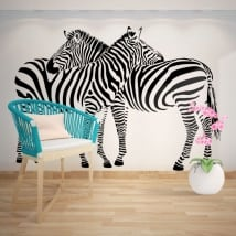 Decorative vinyl walls zebras