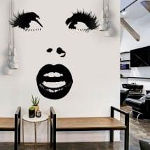 Decorative vinyl surprised woman face