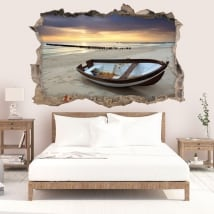 Decorative vinyl sunrise on the beach 3D