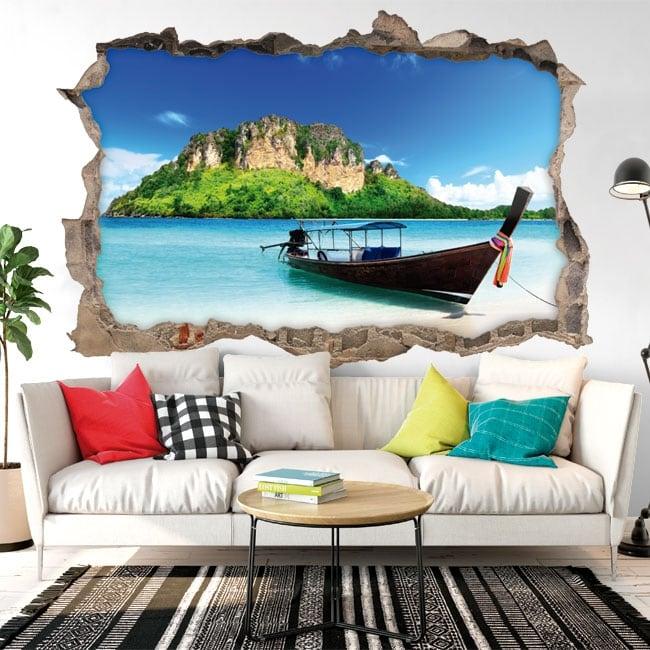 Decorative vinyl Thailand beaches 3D