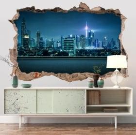 Decorative vinyl city Kuala Lumpur Malaysia 3D