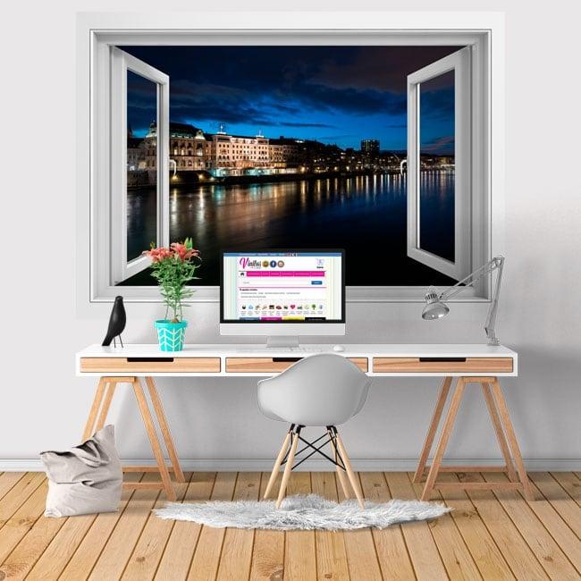 Adhesive vinyl city Basel Switzerland 3D