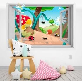 Children's vinyl 3D forest