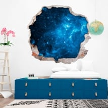 Wall stickers stars in the cosmos 3D