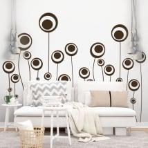 Decorative vinyl flowers circles