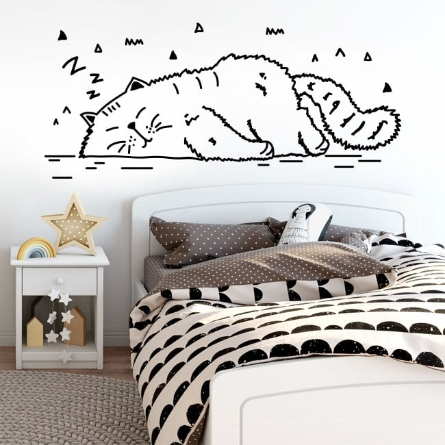 Stickers for wall cat nap