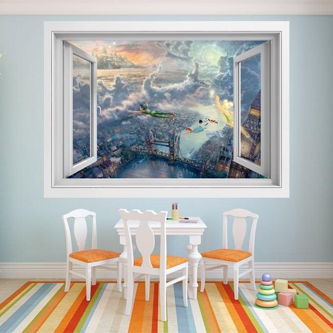 Decorative vinyl window Peter Pan 3D