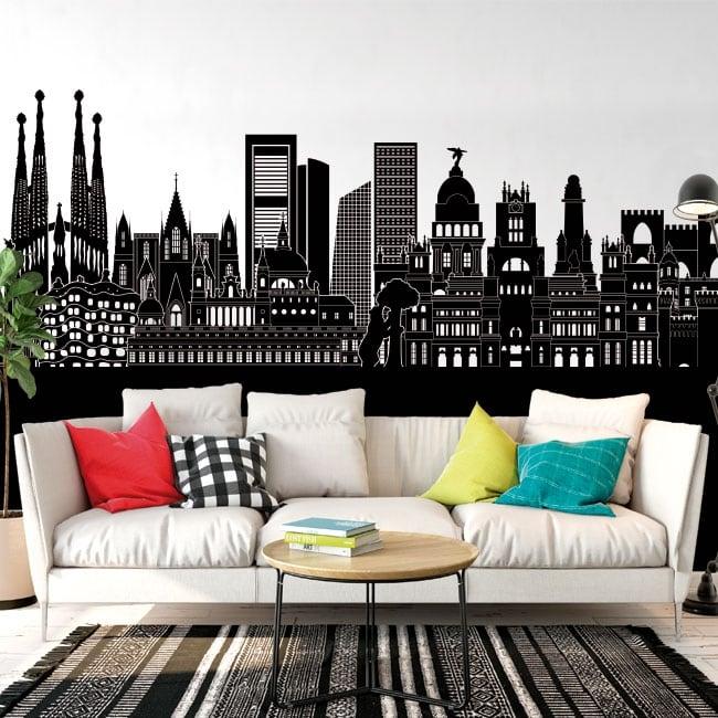 Decorative vinyl Skyline Spain