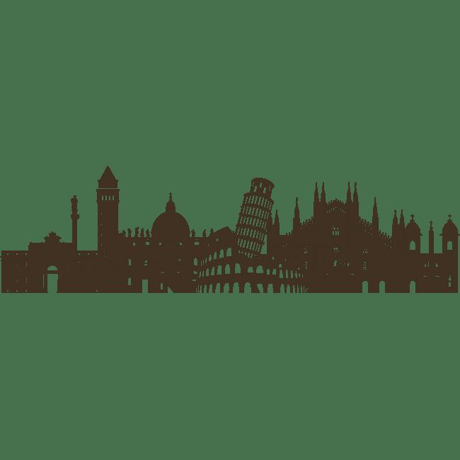 Sticker For Wall Skyline Italy