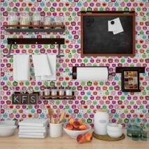 Decorative vinyl kitchen tiles