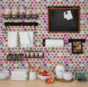 Decorative vinyl kitchen tiles