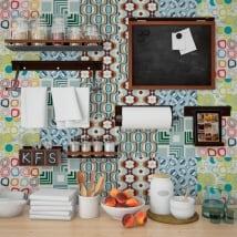 Vinyl and stickers kitchen tiles