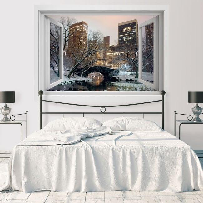 Vinyl window Central Park New York 3D