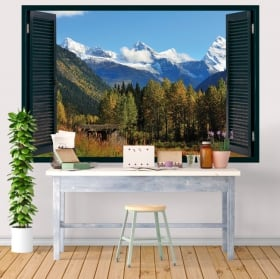 Wall decal Canada national park Banff 3D