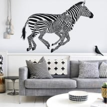 Decorative vinyl wall zebras