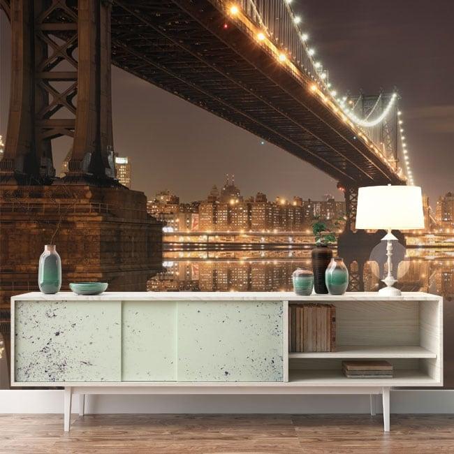 Wall murals New York Manhattan bridge