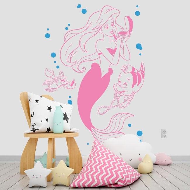 Children's vinyl the little mermaid
