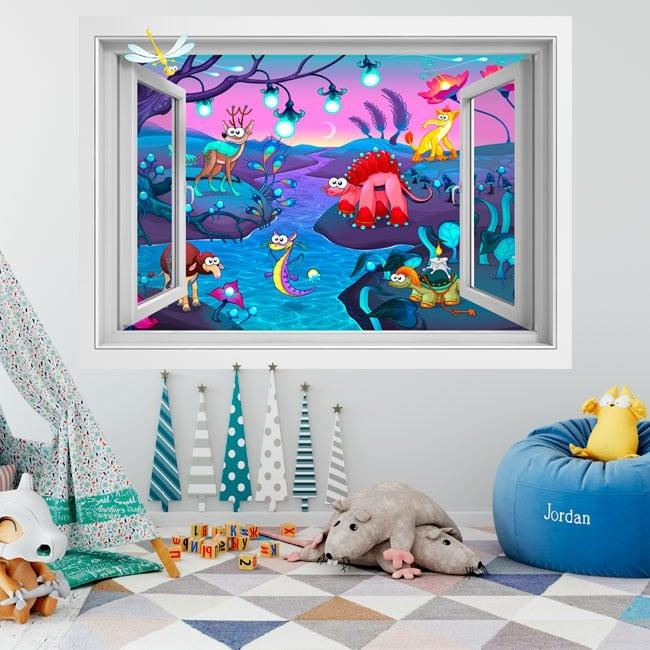Children's vinyl animal fantasy 3D