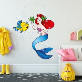 Vinyl stickers for children the little mermaid
