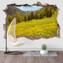 Wall stickers Campo Tures Italy 3D